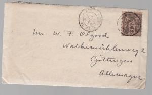 1889 France Mini Cover to Gottingen Germany with letter contents