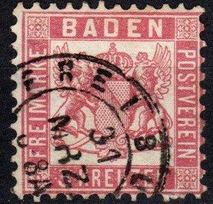 Baden #20 F-VF  Used CV $4.00  (X4065)