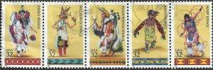 # 3072-3076 USED AMERICAN INDIAN DANCES