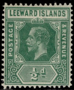 LEEWARD ISLANDS GV SG82, ½d blue-green, LH MINT. Cat £25.