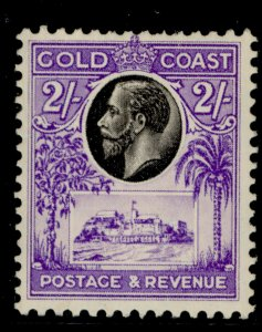 GOLD COAST GV SG111, 2s black and bright violet, LH MINT. Cat £35.