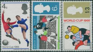Great Britain 1966 SG693-695 QEII World Cup Football set MNH