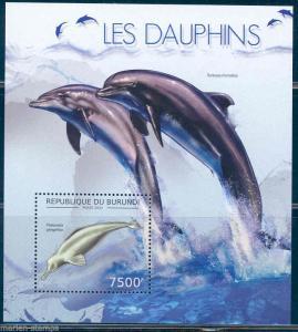 Burundi MNH S/S Dolphins Marine Life 2012