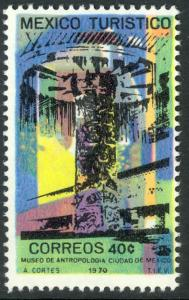 MEXICO 1969-73 40c Anthropology Museum Tourism Issue Sc 1009 MNH