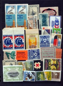 France Foire Paris Chalon Orleans Esperanto Early Poster Labels (25+(NT 8834