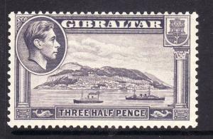 1943 Gibraltar 1½d Perf 13 Mint