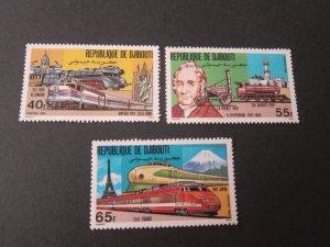 Djibouti 1981 Sc 525-7 Train set MNH
