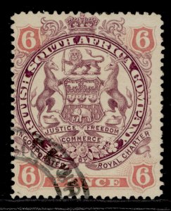 RHODESIA QV SG71, 6d dull purple & pink, FINE USED.