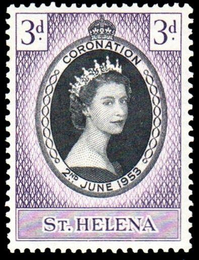ST HELENA - 1953 - QE II - CORONATION  ISSUE - MINT - MNH SINGLE!