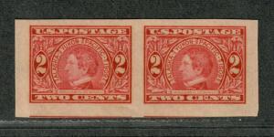 US Sc#371 M/EF, Jumbo Imperf Pair, Cv. $67.50