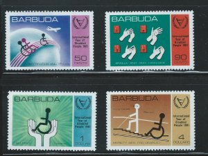 Barbuda MNH 502-5 Year Of The Disabled 1981SCV 2.25