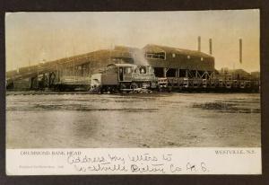 1903 Westville Nova Scotia Drummond Bank Railroad Real Picture Postcard Cover