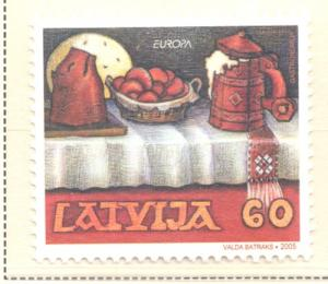 Latvia Sc 616 2005 Europa stamp mint NH