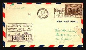 Canada 1929 FFC - Hamilton to Toronto - Z16719