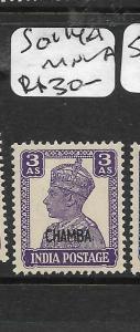INDIA CHAMBA (P3008B) KGVI 3A  SG 114A  MNH