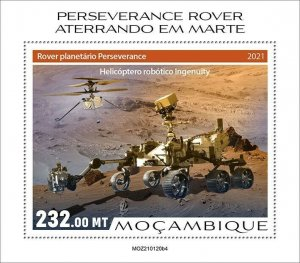 Mozambique 2021 MNH Space Stamps Perserverance Rover Mars Landing 1v S/S IV