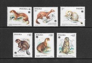 POLAND #2650-55   ANIMALS   MNH