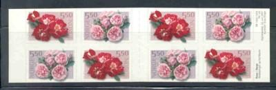 Norway Sc 1304b 2001 roses stamp booklet mint NH
