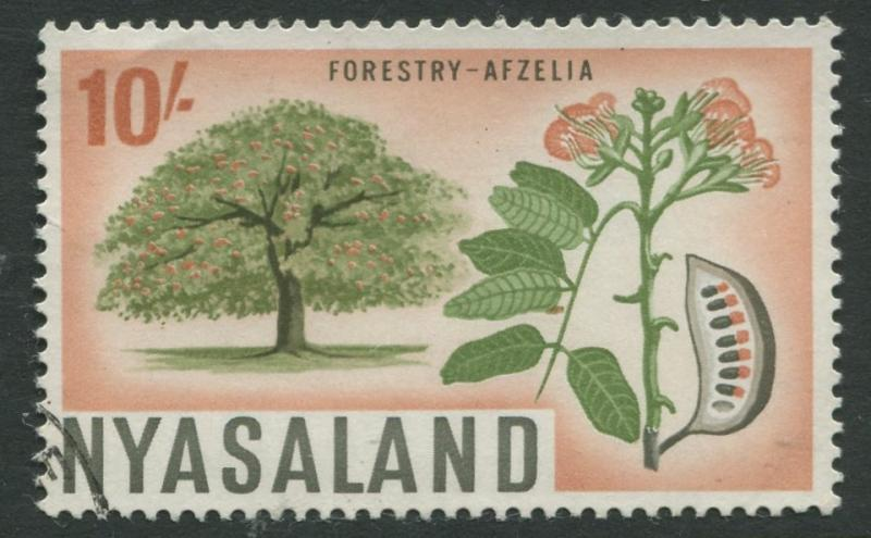 Nyasaland - Scott 133 - Definitive Issue -1964- VFU - Single 10/- Stamp