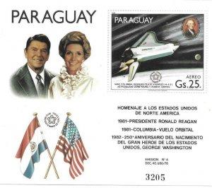 1981    PARAGUAY  -COLUMBIA - PRESIDENT REAGAN    -  MNH