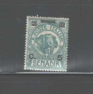 ITALIAN SOMALILAND BENADIR 1926 #71 MH OVPT.ON TOP