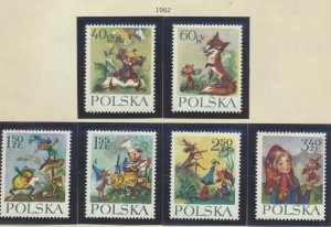 Poland Stamps Scott #1105 To 1110, Mint