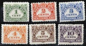 Newfoundland Sc J1-J6 Hinged Original Gum Set