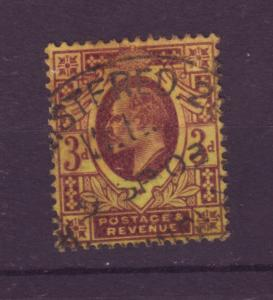 J18249 JLstamps 1902 great britain used #132 king