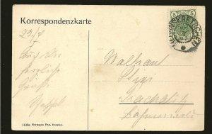Austria 89 on PM 1907 Postcard Used