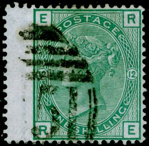 SG150, 1s green plate 12, FINE USED. Cat £60+. C51 THOMAS. RE