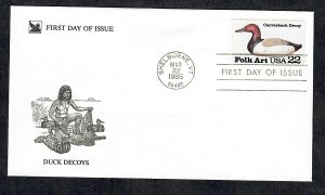 2140 Canvasback Decoy Unaddressed Reader's Digest FDC
