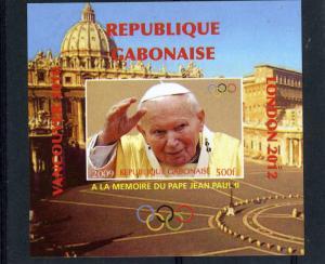 GABON 2009 Pope John Paul II Memory Deluxe s/s Mint (NH) VF #4