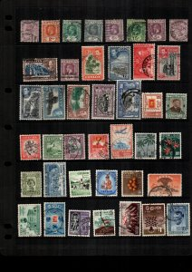 Ceylon  MH  and used lot of 38