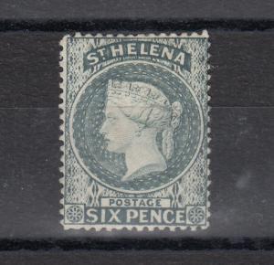 St Helena QV 1881 6d Grey SG44 MH J5841