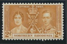 Northern Rhodesia  SG 23 SC# 23 MH  -  Coronation - see details