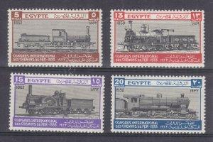 EGYPT, 1933 Railway Congress set of 4, lhm.