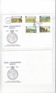 Isle of Man FDC 163-67 Royal Geographical Society  Official Cachet