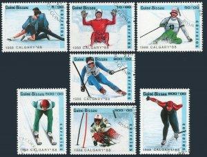Guinea Bissau 704-710,CTO. Olympics,Calgary-1988.Pairs figure skating,Luge,