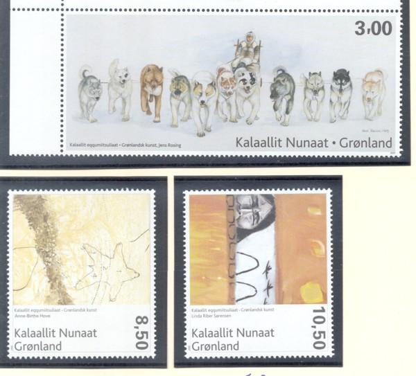 Greenland Sc 498-500 2007 Paintings stamp set mint NH