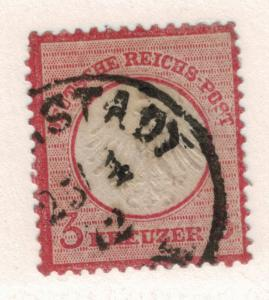 Germany Stamp Scott #9, Used - Free U.S. Shipping, Free Worldwide Shipping Ov...