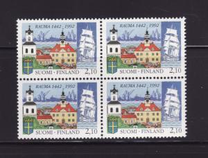 Finland 882 Block of 4 Set MNH Town of Rauma