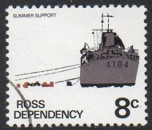 Ross Dependency 1972 8c Supply Ship 'HMNZS Endeavour' used