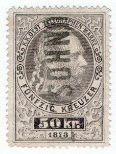 (I.B) Austria Telegraphs : State Telegram 50kr