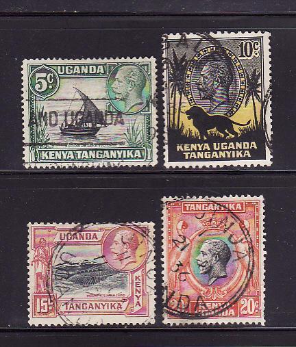 Kenya, Uganda, Tanzania 47-50 U King George V (B)