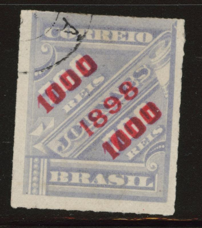 Brazil Scott 135 Used  from 1898 surcharge set CV#17.50