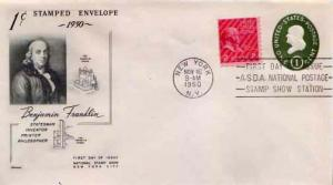 United States, Postal Stationery, Prexies, Event, First Day Cover, New York
