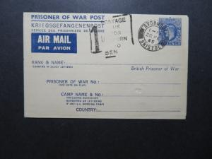 Great Britain 1945 Canceled POW Letter Card / Blank / No Writing - Z11470