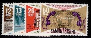 SAMOA QEII SG492-495, 1977 telecommunications set, NH MINT.