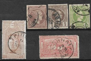 COLLECTION LOT #743 GREECE 5 STAMPS 1880+ CV + $38