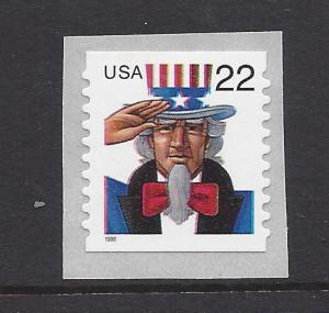United States, 3263,22c Uncle Sam Coil Single (See Desc),MNH